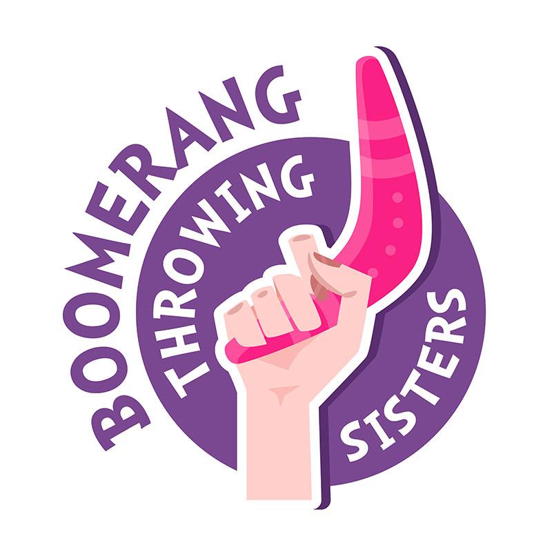 Boomerang Throwing Logo Design